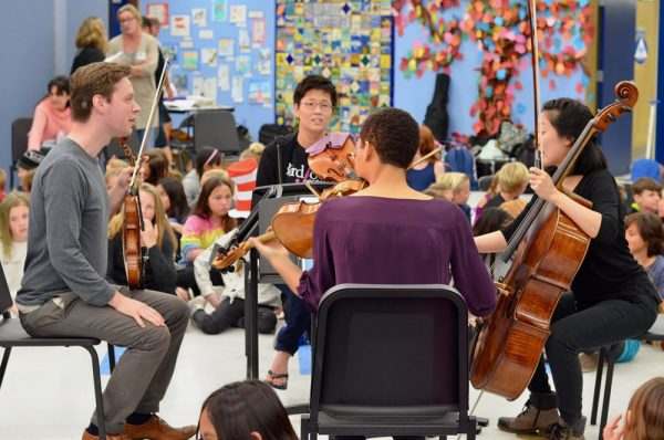 The concert benefits Laguna Beach Live outreach, such as a performance by the Argus Quartet at the Boys and Girls Club.