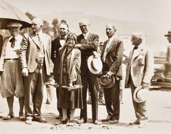 A documentary about the Laguna Art Museum's history gives a star turn to early supporter Anna Hills, seen here at the museum's ground breaking.