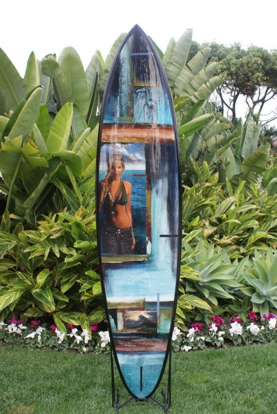An example of the custom board up for auction.