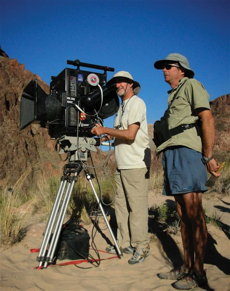 "Greg MacGillivray on location for ""Grand Canyon Adventure,"" one of his 40 IMAX movies."