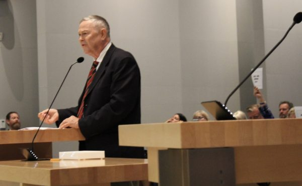 Rep. Dana Rohrabacher has been visible in District 48 in recent weeks urging cities to oppose the state's sanctuary laws over assisting federal  immigration authorities. Photo by Victoria Kertz