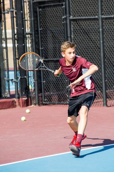 Matt Berk in the match against Costa Mesa. Photo by Candice Dartez.