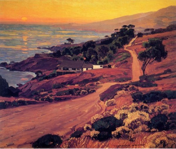 "Artist William Wendt's ""Coast Road."" A segment still remains, ascending from the inland Aliso Creek Beach parking lot to Monterey Street."