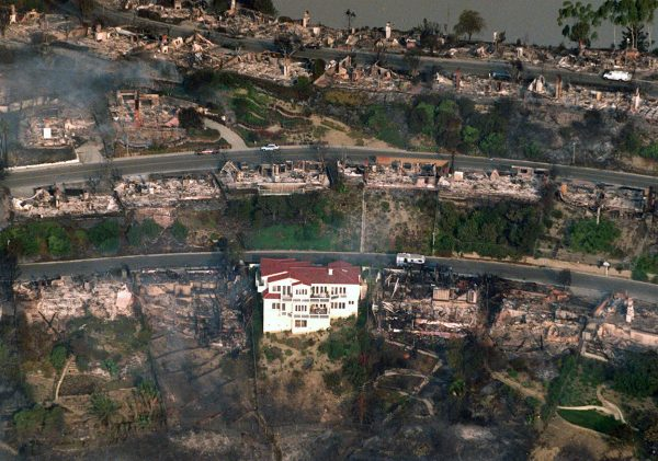 Ready for the next disaster? Preparation helped this homeowner survive the 1993 firestorm. Photo courtesy of LBPD