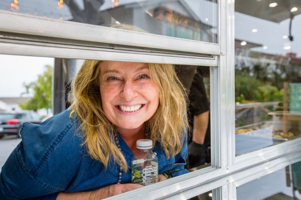 Chef Cathy McKnight in the window of Eilo's Kitchen.