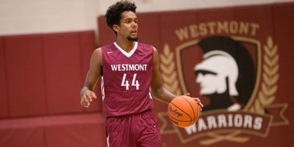 Noah Blanton during a Westmont College game.