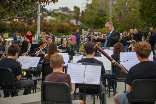 The Thurston Middle School band and orchestra performs at the school's recent open house.