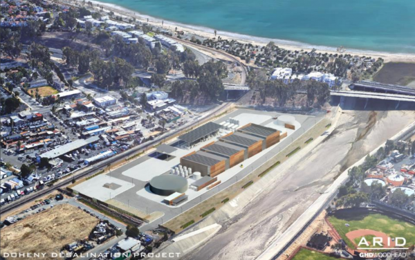 A rendering of the proposed Doheny desalination facility in San Juan Creek.Photo courtesy of South Coast Water District.