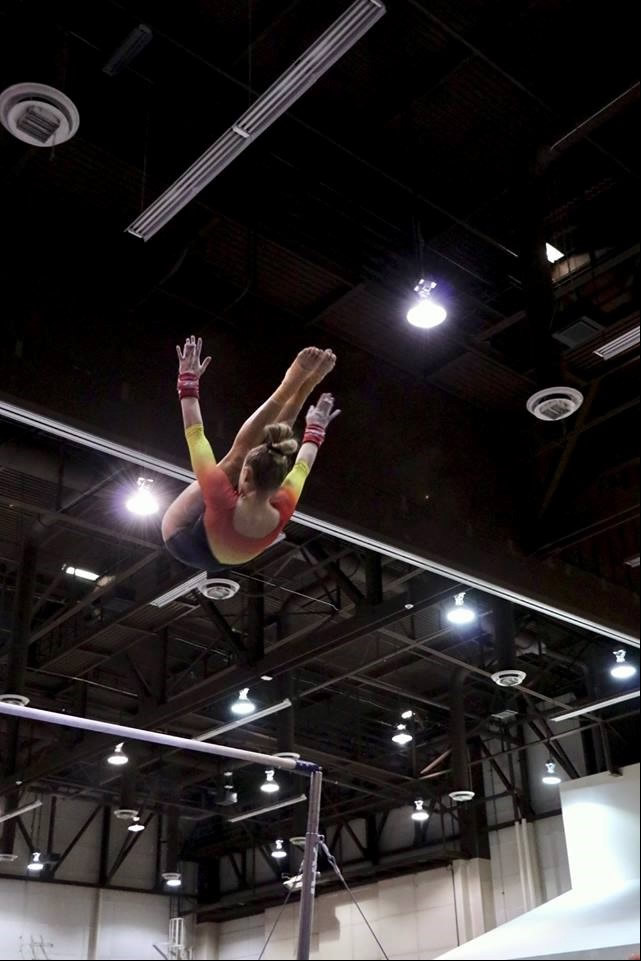 Gymnast Tessa Blanchard  Photo by Wendy Watson.