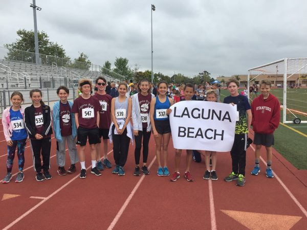 Laguna team members on the Estancia track.