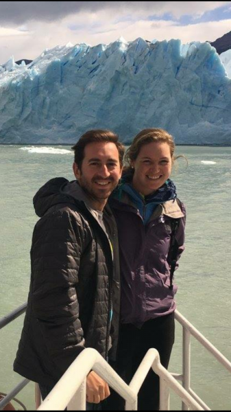 Michael Lamb and Aurora Hunt Steinle on a trip to Patagonia.