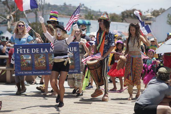 Children parade through Laguna with Fête de la Musique performers. Photos courtesy of Sister Cities Assoc.