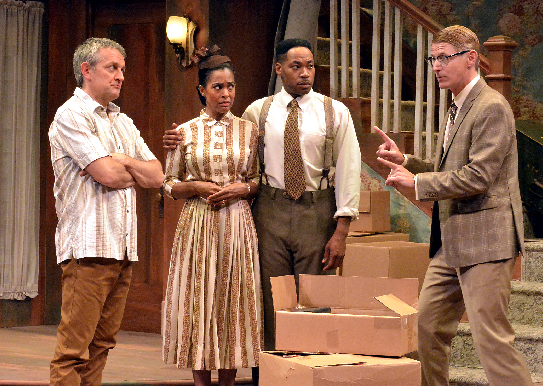 "More than racial stereotypes are poked in the two-act Laguna Playhouse show ""Clybourne Park,"" through this weekend, June 24."