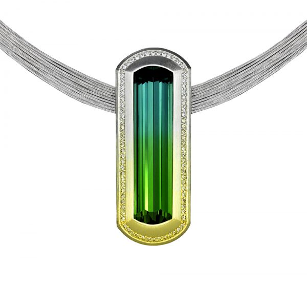Neeley's tourmaline pendant.