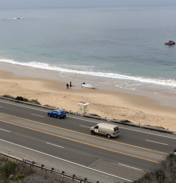 Suspected illegal border crossers entered the country at Crystal Cove State Park today.