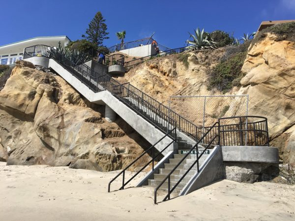 Access to Agate Street Beach resumes.