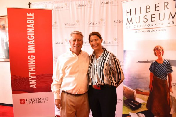 Alex and Susan Shusko attend the Hilbert Museum opening.