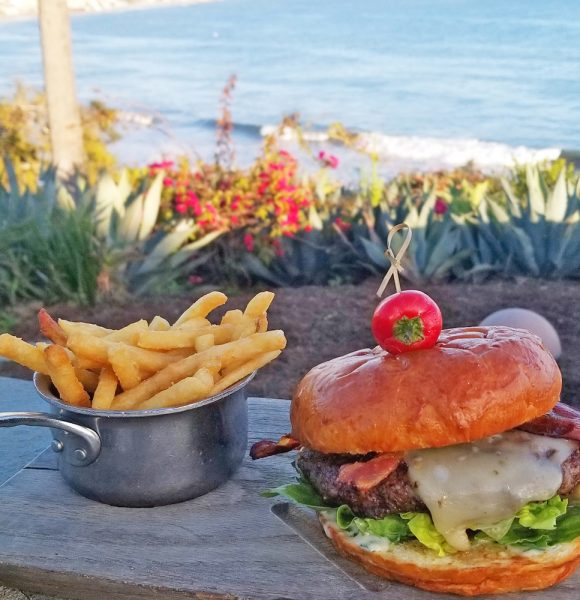 The newly constituted burger on the Las Brisas patio menu.