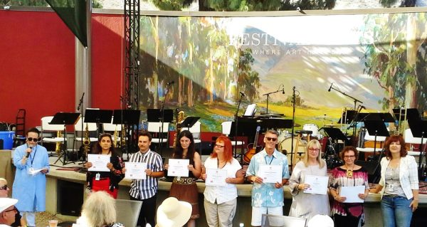 Art-To-Go presented best-in-show awards to winning artists this past Sunday, July 8 on the Festival grounds.