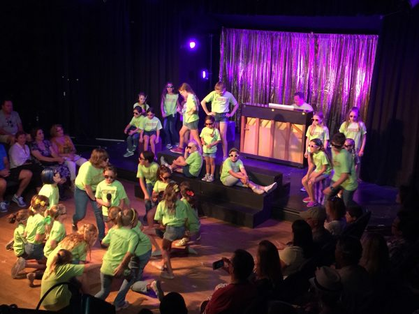 Wanne-be actors try out No Square's youth theater camp last year.