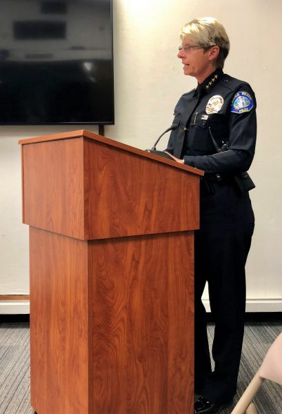 Police Chief Laura Farinella described the impact of a school resource officer on public school campuses.