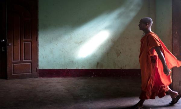 "Jeff Rovner's ""Yangon Monastary, Myanmar."""