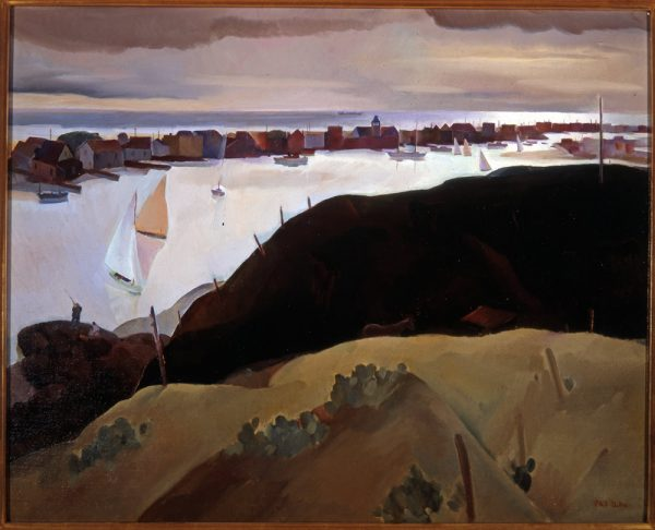 """Corona del Mar,"" painted by Phil Dyke in 1932 is on loan from the Irvine Museum Collection."