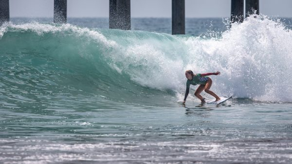 Laguna Beach surfer Kayla Coscino placed fourth last weekend at the U.S. Open of Surfing in Huntington Beach. Photo: courtesy of USA Surfing/John Jackson.