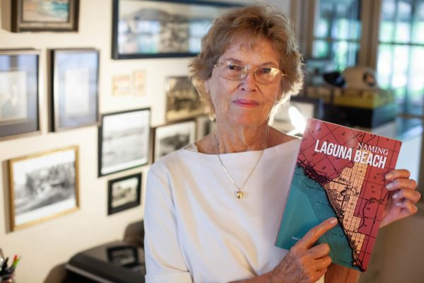 "Lifelong resident Jane Janz shares a wealth of Laguna research and knowledge in her recently released book, ""Naming Laguna Beach."" Photo by Allison Jarrell"