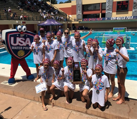 The SET Water Polo Club's 12's division takes the gold at the USA Water Polo's Junior Olympics on July 29.
