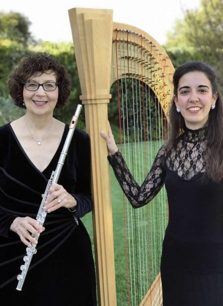 Flutist Susan Greenberg and harpist Cristina Montes-Mateo will perform Aug. 9 at the Laguna Art Museum. Photo courtesy of Laguna Beach Live.
