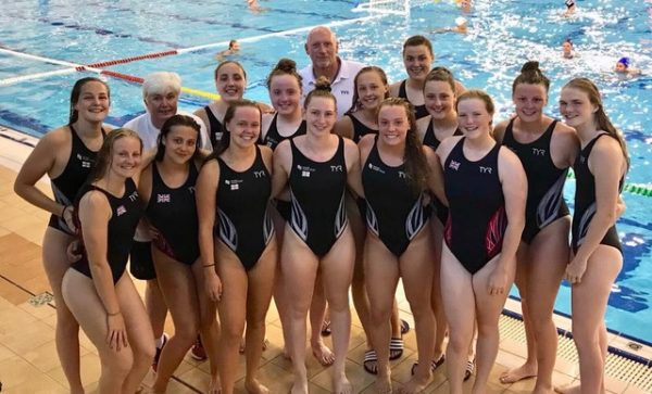 ) Great Britain Junior Women's team, with Isabel Riches in the front row, second from the right.