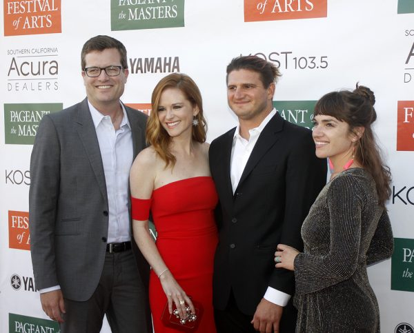 Peter Lanfer, Sarah Drew, Bernard Chadwick and Rachel Chadwick at the Festival of Arts' celebrity benefit.