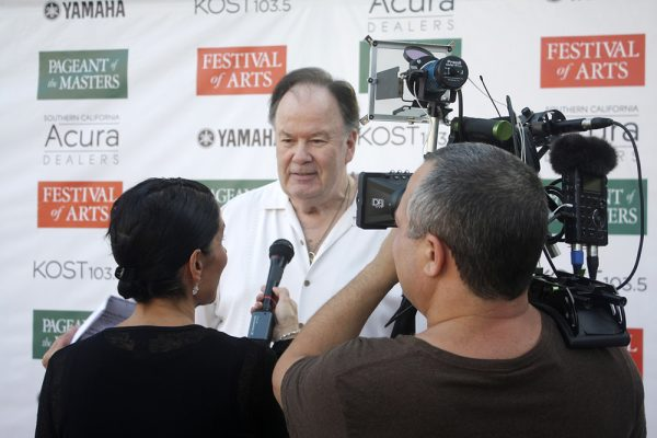 "Dennis Haskins, of ""Saved by the Bell,"" at the Festival of Arts' celebrity benefit."