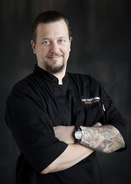 : Chef Ryan Adams (pictured) is in the process of selling Three Seventy Common Kitchen+Drink to Chef Greg Daniels, formerly of Haven Gastropub. Photo courtesy of Three Seventy Common