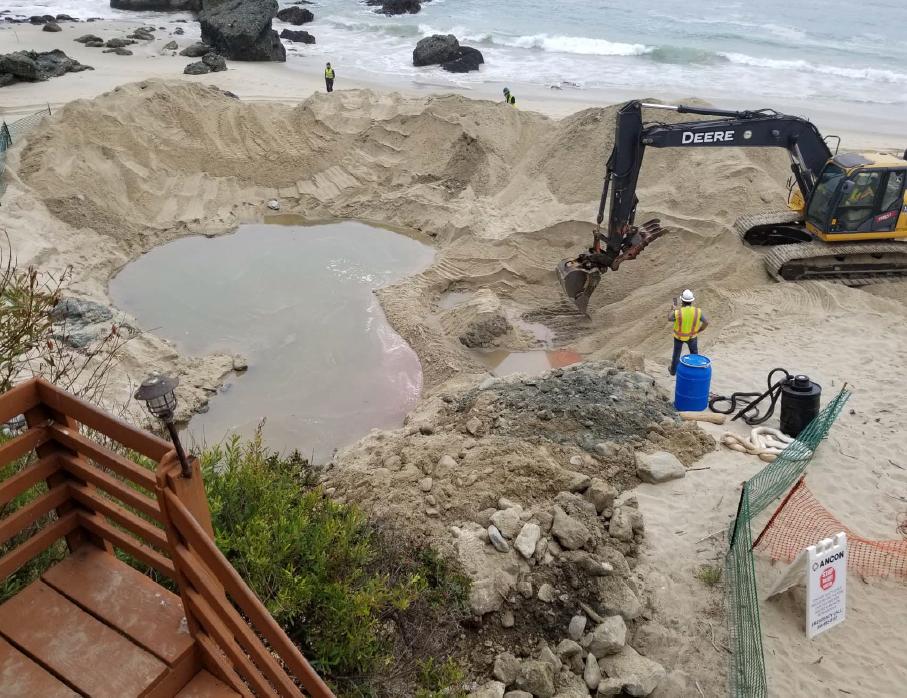 Cleanup continues for Totuava Beach diesel spill - Laguna Beach Local News